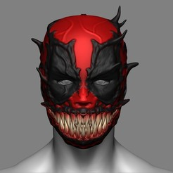 Descargar modelos 3D Deadpool x Venom Mask Cosplay Halloween STL File, 3DPrintModelStoreSS