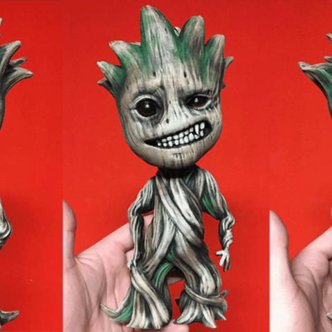 Télécharger objet 3D Modèle d'impression 3D Baby Groot Sculpture - Fichiers STL pour l'impression 3D, 3DPrintModelStoreSS