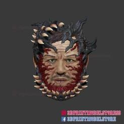 Download 3D printer designs The Spider Man Venom Mask Cosplay Helmet , 3DPrintModelStoreSS