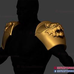 Shoulder_armor_roman_muscle_armor_set_3d_print_file_04.jpg Download STL file Shoulder Armor Cosplay - Larp Armor Cosplay - Tiger Roman Muscle Armor - Spartan Armor Cosplay • Object to 3D print, 3DPrintModelStoreSS