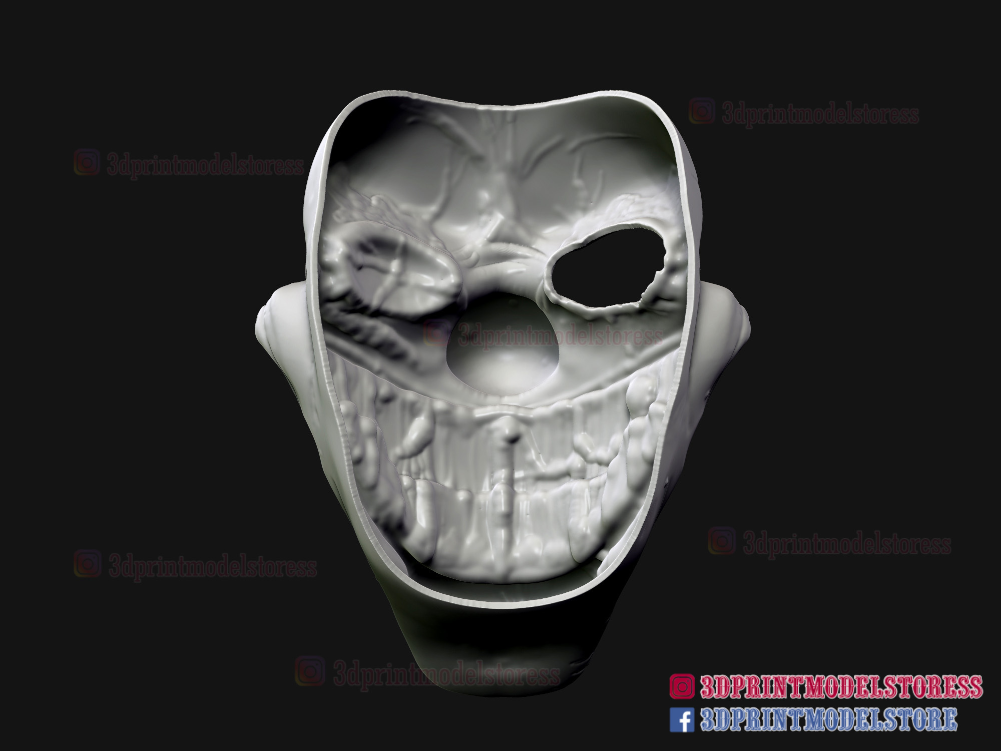 Twisted_metal_killer_clown-11.jpg Download STL file Twisted Metal Killer Clown Mask  • 3D printer model, 3DPrintModelStoreSS