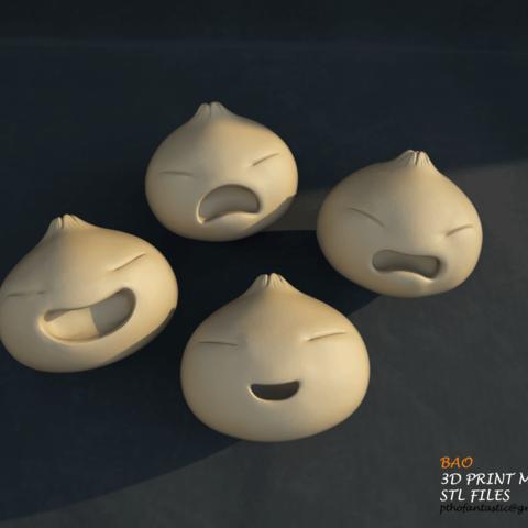 bao_005b.png Download STL file Bao STL Full Set - Bao Incredible for Printing - Bao 3D Print Model • Template to 3D print, 3DPrintModelStoreSS
