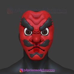 Download 3D printing templates Demon Slayer Makonji Urokodaki Mask Kimetsu no Yaiba Cosplay Helmet, 3DPrintModelStoreSS