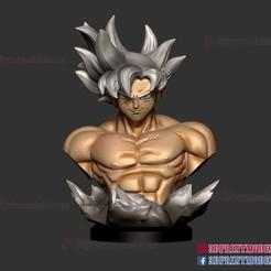 Goku_ultra_dragonball-3d-print-01.jpg Download STL file Songoku Ultra Instinct - Dragon Ball • 3D printable template, 3DPrintModelStoreSS