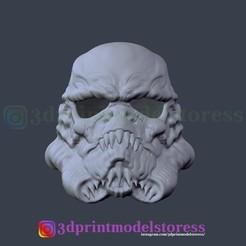Download 3D printer files Stormtrooper Star Wars Zombie Helmets Cosplay Costume Halloween 3D Printing Model , 3DPrintModelStoreSS