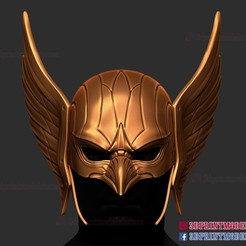 Hawkman_helmet_3d_print_model-01.jpg Download STL file Hawkman Helmet DC Comic • 3D print model, 3DPrintModelStoreSS