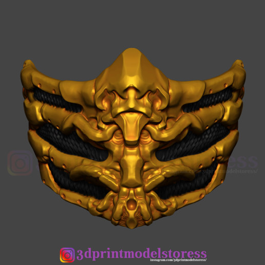 Download 3D Printing Files Scorpion Mask From Mortal