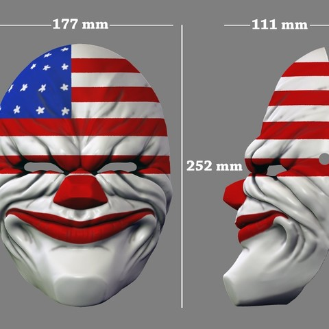 payday_mask_011.jpg Download STL file Payday 2 the Heist Dallas Game Mask Cosplay Halloween STL File for 3D Printing • 3D printable template, 3DPrintModelStoreSS