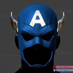 Captain_America_helmet_3d_print_model-01.jpg Download STL file Captain America Helmet - Marvel Comic Cosplay • 3D print object, 3DPrintModelStoreSS