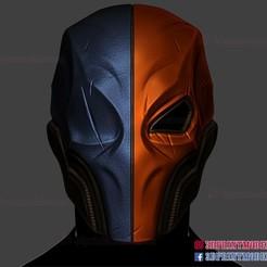 Deathstroke_helmet_3d_print_model-01.jpg Download STL file Deathstroke Helmet - DC Comics Cosplay Mask • 3D printing model, 3DPrintModelStoreSS