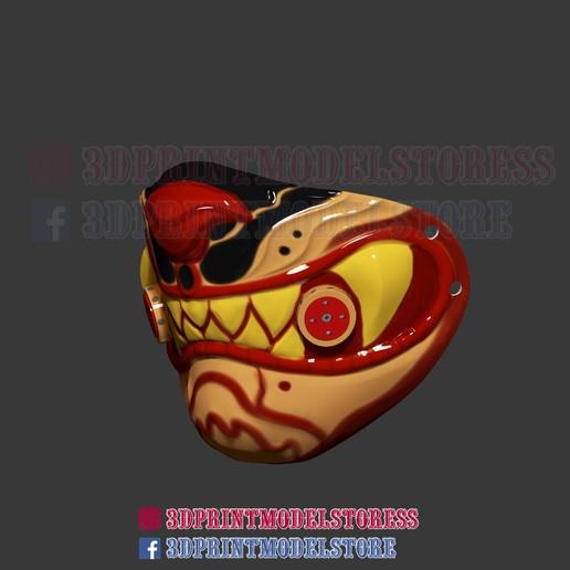 Descargar Archivo 3D Máscara De Protección Del Tigre