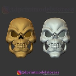 Download STL Skeletor Mask 1980 He-Man Costume Cosplay Helmet STL File 3D Print Model , 3DPrintModelStoreSS
