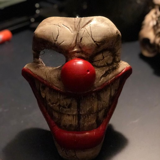 Sweet Tooth Mask_02.jpg Download STL file Twisted Metal Killer Clown Mask  • 3D printer model, 3DPrintModelStoreSS