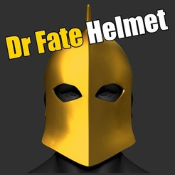 3D print model  Dr Fate Helmet Full Head Cosplay STL File 3D Print Model, pthofantastic