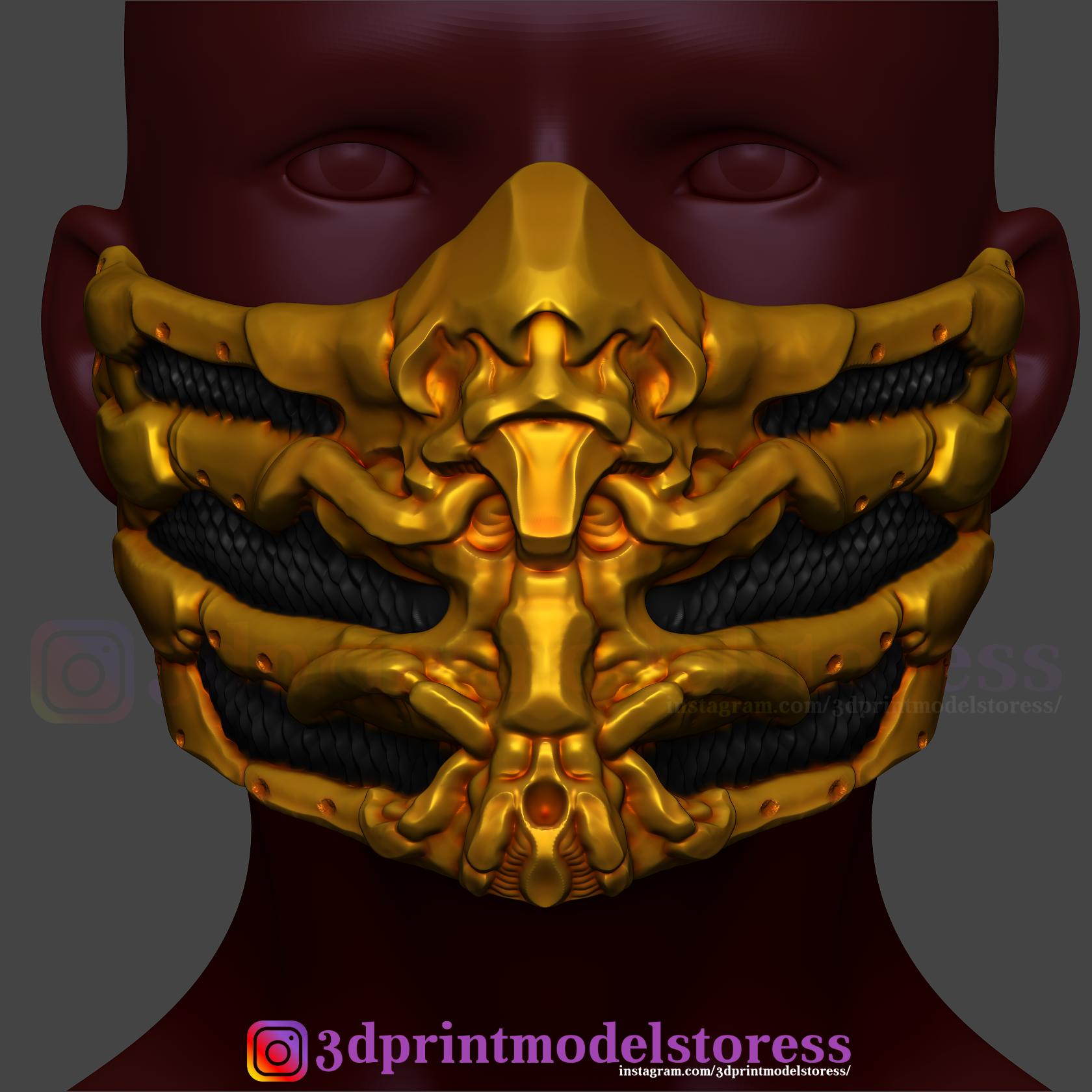 Download 3d Printing Files Scorpion Mask From Mortal Kombat