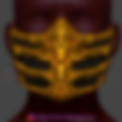 Descargar STL Máscara de Escorpión de Mortal Kombat Cosplay 3D Print Model, 3DPrintModelStoreSS
