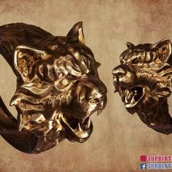 Tiger_ring_3d_print_file_014.jpg Download STL file Tiger Ring - Jewelry - Rings 3D Print File • Template to 3D print, 3DPrintModelStoreSS