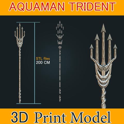 3D printing model Aquaman Trident Cosplay STL files - Costume Weapons 3D Printing, 3DPrintModelStoreSS