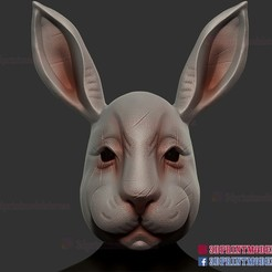 Rabbit_Mask_3d_print_model_01.jpg Télécharger fichier STL Casque de lapin • Objet à imprimer en 3D, 3DPrintModelStoreSS