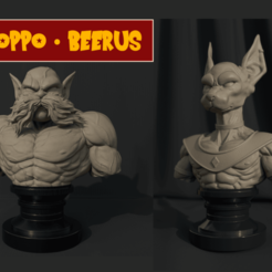 Toppo_beerus_stl.png Download STL file Beerus STL- Toppo STL - Combo Dragon Ball Super 3D Print Model  • 3D print template, 3DPrintModelStoreSS