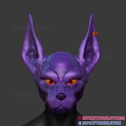 Beerus_Anubis_Helmet_01.jpg Download STL file Beerus Mask Cosplay - Anubis Helmet STL  • 3D print template, 3DPrintModelStoreSS