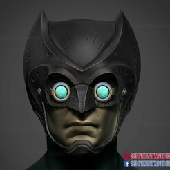 Owlman_helmet_3d_print_model_01.jpg Download STL file Owlman Helmet - DC Comics Cosplay • 3D printer design, 3DPrintModelStoreSS