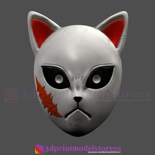 Download 3D Printer Files Kimetsu No Yaiba Sabito Mask