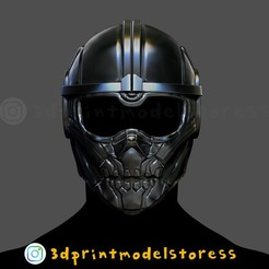Download 3D model Taskmaster Mask Black Widow Marvel Helmet , 3DPrintModelStoreSS