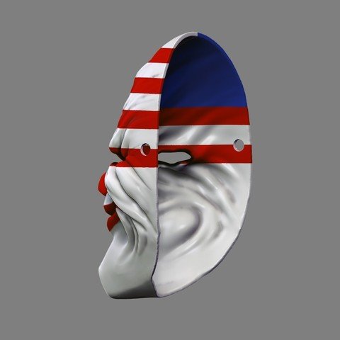 payday_mask_007.jpg Download STL file Payday 2 the Heist Dallas Game Mask Cosplay Halloween STL File for 3D Printing • 3D printable template, 3DPrintModelStoreSS