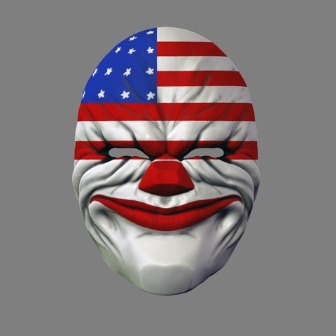 payday_mask_003.jpg Download STL file Payday 2 the Heist Dallas Game Mask Cosplay Halloween STL File for 3D Printing • 3D printable template, 3DPrintModelStoreSS