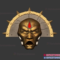 Download 3D model Warhammer 40K Mask Cosplay - Halloween Helmet Costume - Comic con Cosplay Mask, 3DPrintModelStoreSS