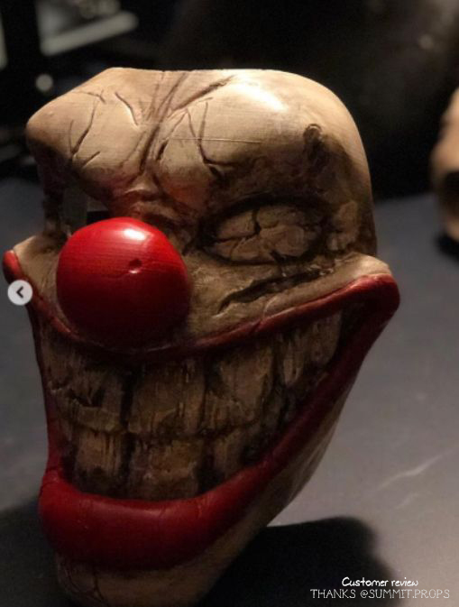 Sweet Tooth Mask_04.jpg Download STL file Twisted Metal Killer Clown Mask  • 3D printer model, 3DPrintModelStoreSS