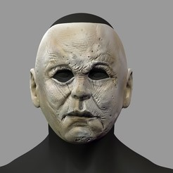 Download 3D printer templates Michael Myers Halloween Movie Mask Cosplay Helmet STL File, 3DPrintModelStoreSS