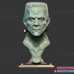 Frankenstein_monster_sculpture_3d_print_file_01.jpg Download STL file Frankenstein's Monster Sculpture Bust STL File • 3D printing model, 3DPrintModelStoreSS