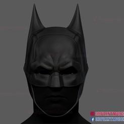 The_Batman_helmet_3d_print_model-01.jpg Download STL file The Batman Helmet - DC Comics Cosplay Mask • 3D printable design, 3DPrintModelStoreSS