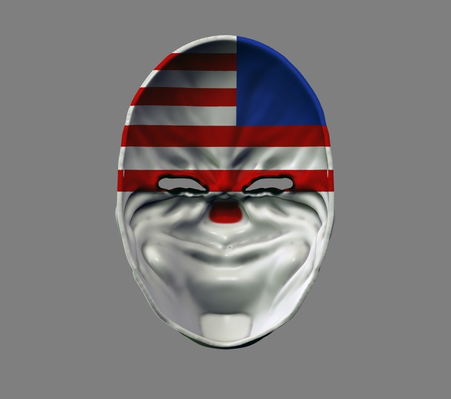 payday_mask_008.jpg Download STL file Payday 2 the Heist Dallas Game Mask Cosplay Halloween STL File for 3D Printing • 3D printable template, 3DPrintModelStoreSS