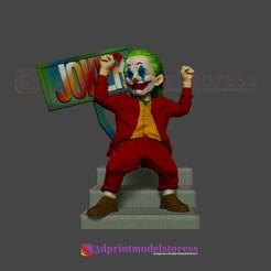 Joker_3D_Print_01.jpg Télécharger fichier STL Joker Stylized Statue Movie DC Comic • Plan à imprimer en 3D, 3DPrintModelStoreSS