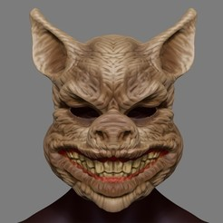 Download 3D printing templates Scary Pig Head Mask Halloween Costume Cosplay Butcher Horror Adult STL File, 3DPrintModelStoreSS