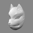 Download 3D printing files Japanese Fox Mask Demon Kitsune Cosplay STL File, 3DPrintModelStoreSS