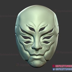 Japanese_Kitsune_Ghost_Mask_3d_print_model-01.jpg Download STL file Japanese Kitsune Ghost Mask • 3D print object, 3DPrintModelStoreSS