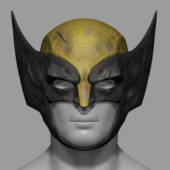 3D printing model Wolverine Helmet Mask Marvel Comic Stl File Cosplay 3D Print Model, 3DPrintModelStoreSS