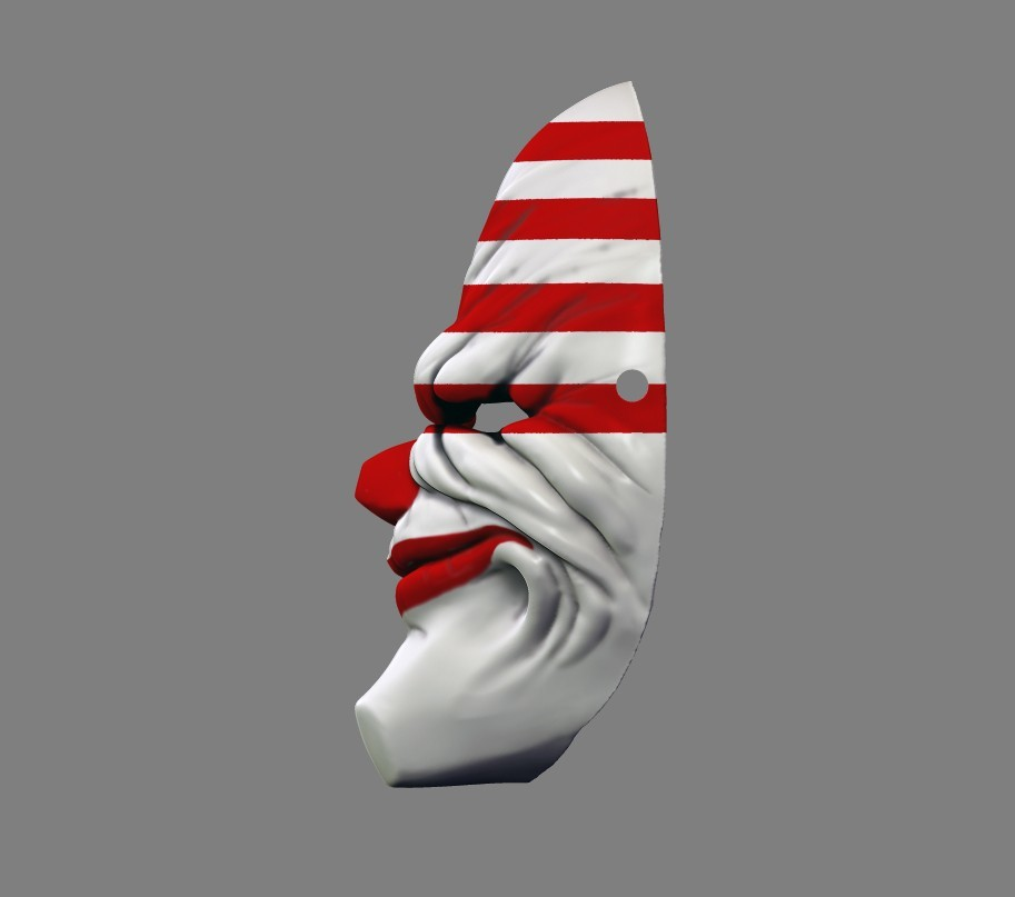 payday_mask_006.jpg Download STL file Payday 2 the Heist Dallas Game Mask Cosplay Halloween STL File for 3D Printing • 3D printable template, 3DPrintModelStoreSS