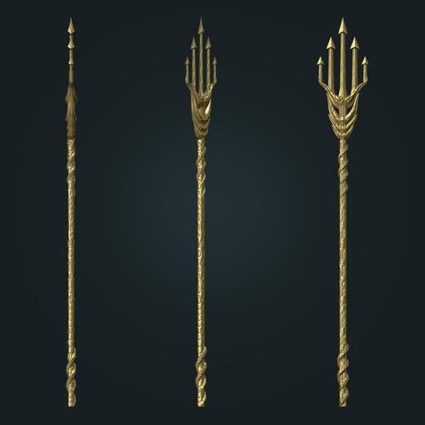 aquaman_weapon_stl_02.png Download STL file Aquaman Trident Cosplay STL files - Costume Weapons 3D Printing • 3D printing design, 3DPrintModelStoreSS