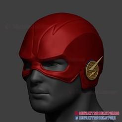 Download STL file The Flash Cosplay Helmet Season 5 DC Comic 3D Print File, 3DPrintModelStoreSS
