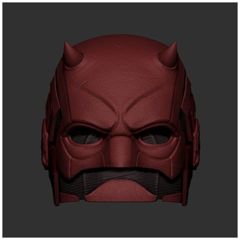 stl Impresión en 3D de máscara Daredevil - Casco Daredevil, pthofantastic