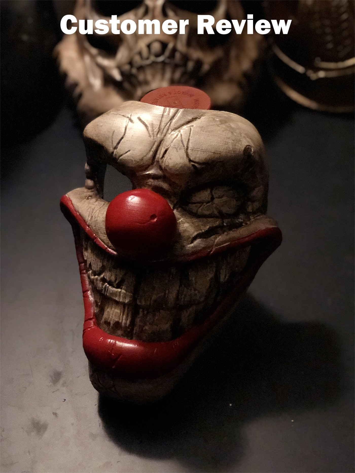 twisted metal killer clown mask review 01.jpeg Download STL file Twisted Metal Killer Clown Mask  • 3D printer model, 3DPrintModelStoreSS