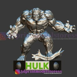 Download 3D printing files Hulk Statue 3D Printable , 3DPrintModelStoreSS