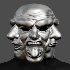 payday_horror_mask_001.jpg Télécharger fichier STL Payday 2 Horror Mask Greek Tragedy Cosplay Mask STL File • Plan imprimable en 3D, 3DPrintModelStoreSS
