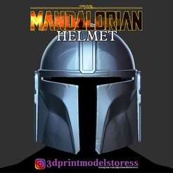 Download 3D printing templates The Mandalorian Helmet - Star Wars 2020 - 3D Printing Model, 3DPrintModelStoreSS