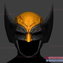 wolverine_helmet_3d_print_model-01.jpg Download STL file Wolverine Helmet - Marvel Cosplay  • 3D printable template, 3DPrintModelStoreSS